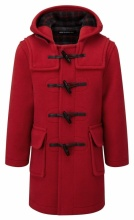 Children Classic Duffle Coat Red 7-9 years