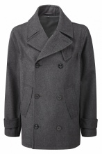 Charcoal Original Montgomery Lined Pea Coat Charcoal