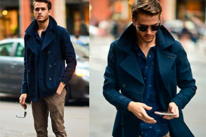 What to combine the Pea coat with — men's style