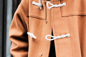 Fine process — what is the duffle coat made of?
