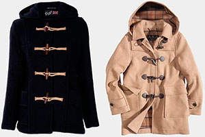 Types of the duffle coats