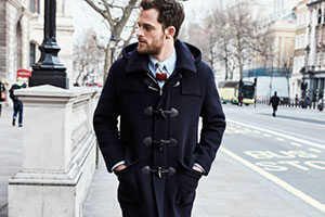 Men's duffle coat — an ideal choice for autumn