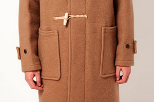 Duffle coat pockets features