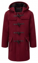 Children Classic Duffle Coat Burgundy 7-9 years