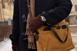 Choosing a bag to suit the duffle coat