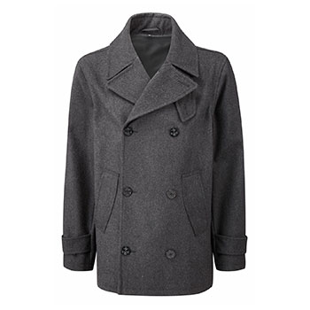 Montgomery Lined Pea coat Charcoal