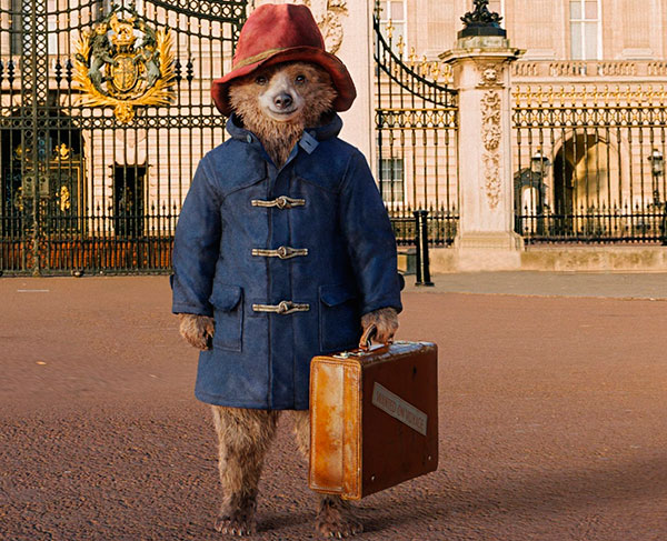Bear Paddington in duffle coat