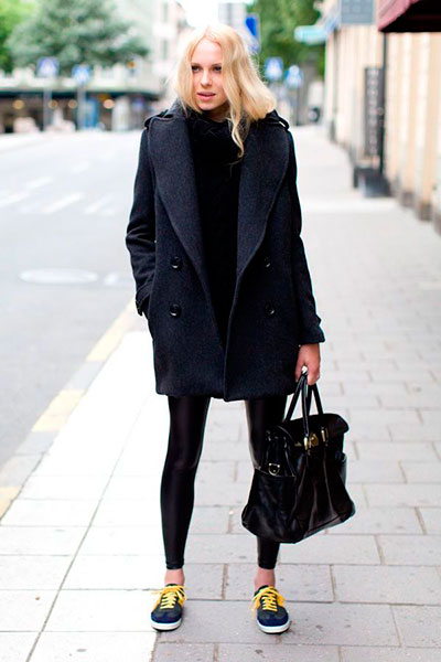 What can be worn with women's Pea coat