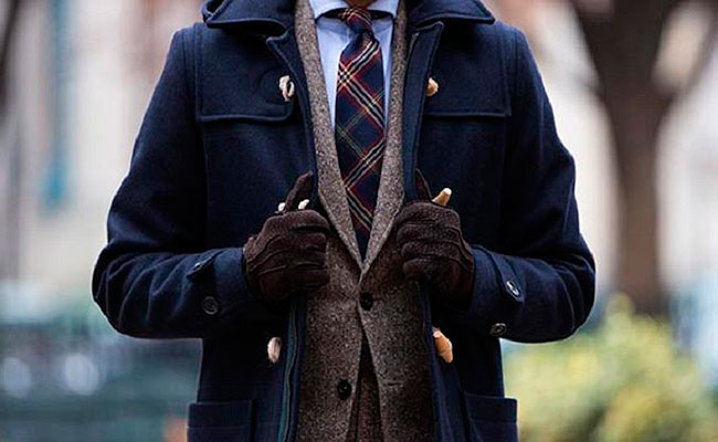 duffle coat et costume