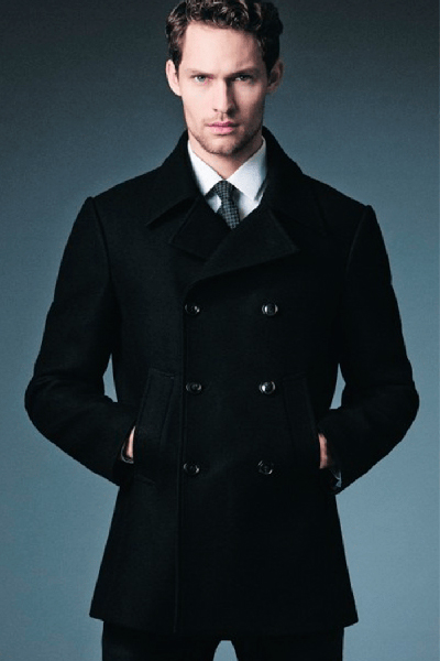 Pea coat and business style